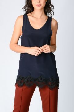 Silk Top with Lace