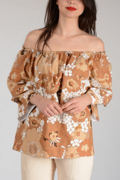 Cotton Flowered Top