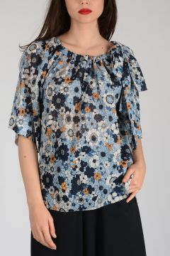 Crepe Flowered Top