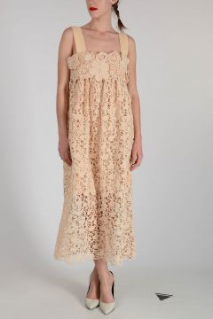 Flowered Embroidered Dress