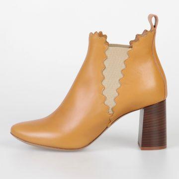 Stivali Bassi in Pelle 7 cm
