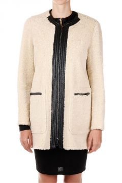 Cappotto shearling in pelle