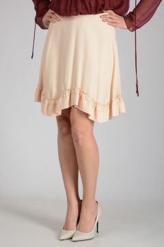 Frill Embroidery Skirt