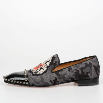 Camouflage Studded MEDIEVALO Loafers