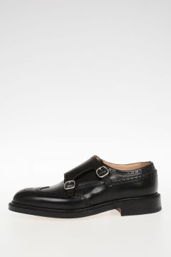 Scarpe Monk Strap MONKTON in Pelle Brogue