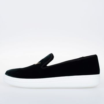 Velvet Embroidery Slip On