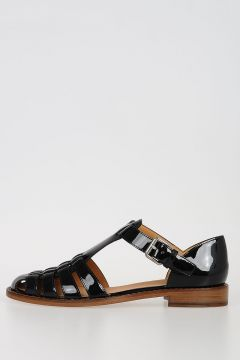 Leather METAL PATENT Sandal