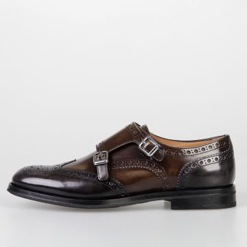 Scarpa Oxford POLISHED FUME' in Pelle