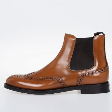 SANDAL WOOD Leather Chelsea Boots