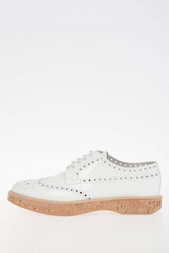 Brogue Patent Leather Derby Shoes