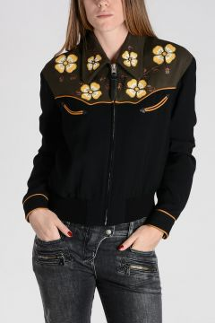 Embroidery Zipped Jacket