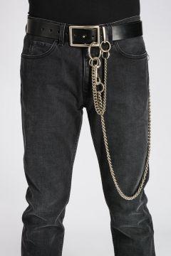 Cintura in Pelle con Catene 40mm