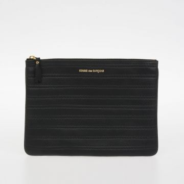 Pochette EMBOSSED STITCH In Pelle