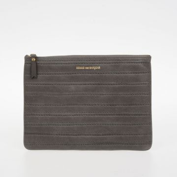 Leather EMBOSSED STITCH pochette