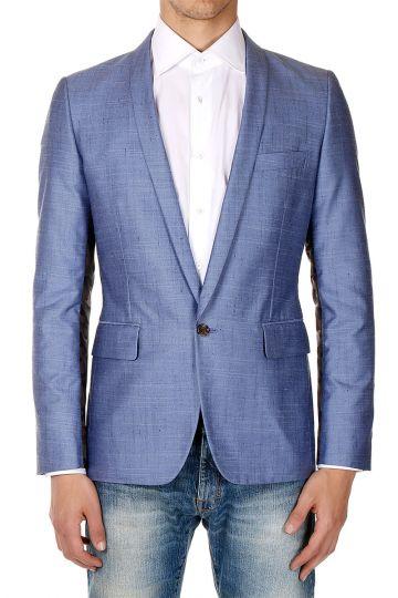 Silk Mixed Blazer