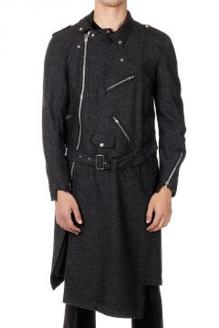 Long Coat with Belt and zip