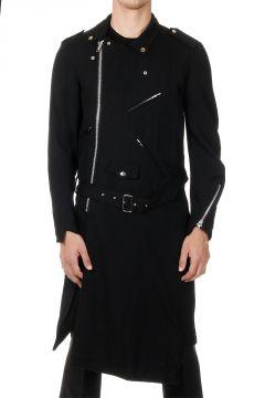 Cappotto Lungo con cintura e zip