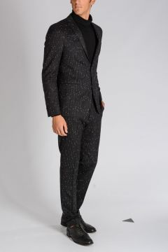 CC COLLECTION Pinstriped Stretch Virgin Wool Suit
