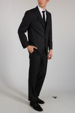 Virgin Wool LEADER Pinstriped Suit