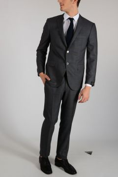 Virgin Wool ACADEMY Checked Suit