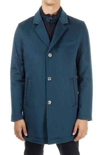 Cappotto imbottito monopetto con zip removibile