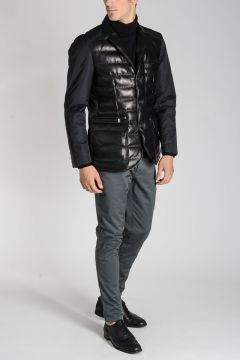 CORNELIANI ID Quilted Leather Jacket