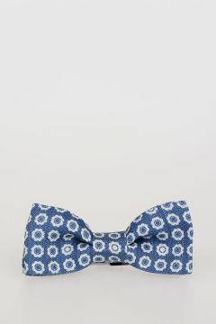 CC COLLECTION Silk and Linen Bow Tie & Handkerchief Set