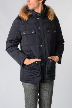 TREND down Padded Jacket with Real fur