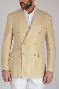 Blend Silk Linen Single Breasted Blazer