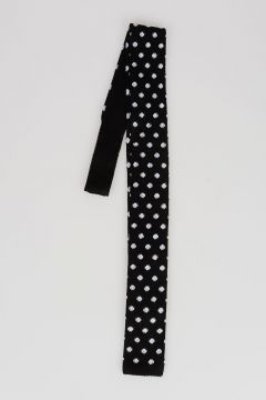 CC COLLECTION knitted Pois Printed Cotton Tie
