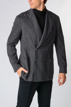 ID Wool Mixed Double Breasted Jacket