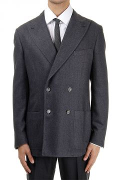 Wool Mixed Double Breasted Jacket