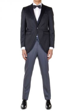 Virgin Wool Mixed Suit with Vest