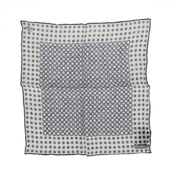 Linen Polka Dots Printed Pocket Square