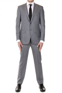 Silk and Virgin Wool Striped SUPER 150'S Suit
