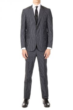 CC COLLECTION Virgin Wool and cotton Pinstripe suit