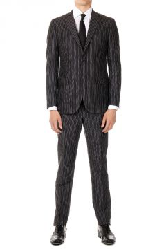 CC COLLECTION  Mohair and cotton Pinstripe suit