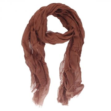 Long Plain Scarf with Fringes 190 x 70 cm