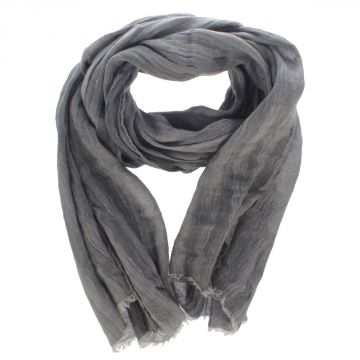 Silk and Linen Scarf 190 x 65 cm