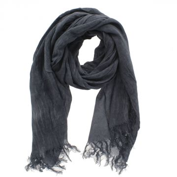 SALSA CROSS Scarf Foulard with Fringes 190 x 47 cm