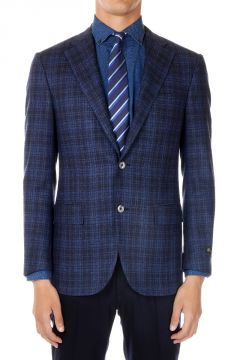 Wool Cashmere Checked LEADER Jacket