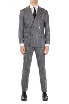 Extrafine Virgin Wool Pinstriped LEADER SUP. SOFT Suit
