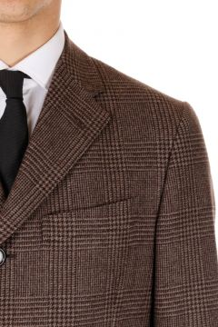 Virgin Wool checked Coat