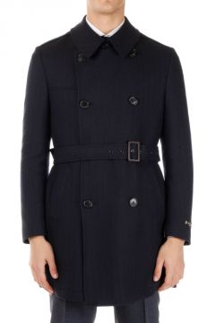Virgin wool Blend Coat with Belt