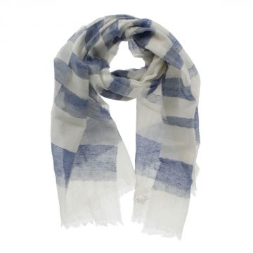Linen Cashmere and Silk Blend Scarf