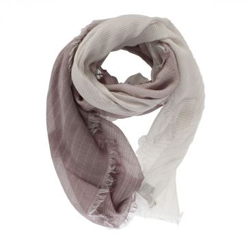 Striped Cotton Blend Scarf