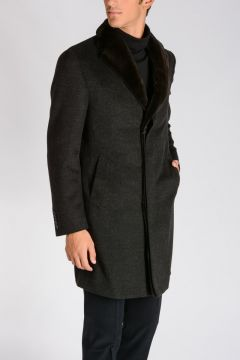 Virgin Wool Cashmere Coat And Mink Fur