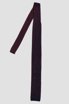 Bicolor Silk Knitted Tie