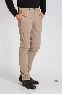 CORNELIANI ID Pantaloni Chino in Cotone Stretch
