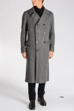 Virgin Wool & Alpaca Herringbone Coat
